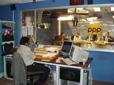 RPPのニュース番組放送中