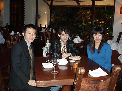 今井さん、山口さんとの夕食