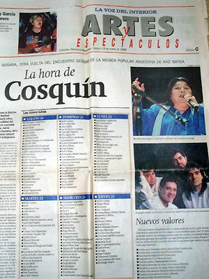 アルゼンチン、コルドバの大手紙